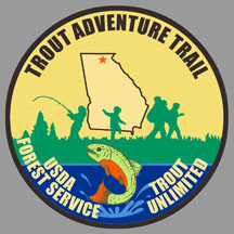 Trout Adventure Trail hikers' patch