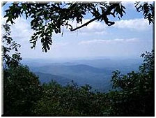 View from Springer Mountain, the southern terminus of the Appalachian Trail.